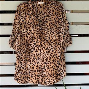 Calvin animal print shirt
